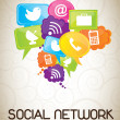 Social Network - Stock vektor