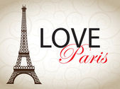 Love Paris — Stock Vector