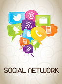 Réseau social — Vecteur