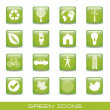 Green icons — Stock Vector #13610035