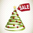 Stock Vector: Christmas tree sale