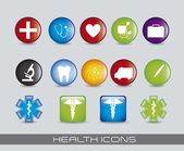 Health icons — Stock Vector