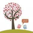 Love birds — Stock Vector #13699058