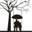 Royalty-Free Stock Vektorfiler: Couple under tree