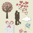 Love elements - Imagens vectoriais em stock