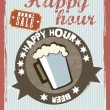 Stockvector : Happy hour