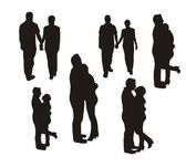 Couple silhouette — Stock Vector