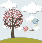 Love birds — Vecteur