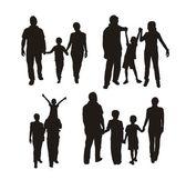 家庭剪影 — 图库矢量图片