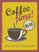 Kahve saati — Stok Vektör