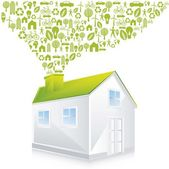 Casa verde — Vetorial Stock
