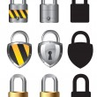 Stock Vector: Collections of locks