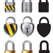 Collections of locks — 图库矢量图片