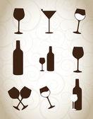 бокалы для вина — Cтоковый вектор