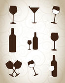 Wine glasses — Vettoriale Stock