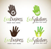 Ecological hands — Stock Vector