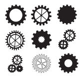 Black gears — Stock Vector