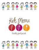 Kids menu — Stock Vector