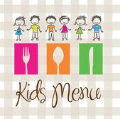 孩子们菜单 — 图库矢量图片