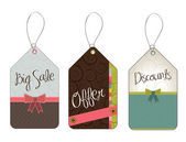 Hanging tags — Stock Vector