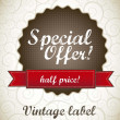 Stock Vector: Special offer label