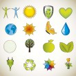 nature icons — Image vectorielle