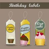 Birthday labels — Stock Vector