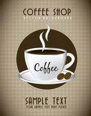 Šálek kávy — Stock vektor