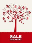 Prodej strom — Stock vektor