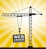 Construction crane — Stock Vector