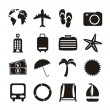 Vacation icons — Vector de stock