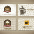 Stock Vector: Coffee cards