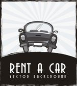 Rent a car — Stock Vector