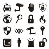 Icone di sicurezza — Vettoriale Stock