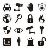 Säkerhet ikoner — Stockvektor