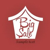 Big sale house — Stock Vector