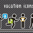 Vacation icons — Stockvectorbeeld