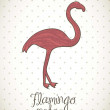 flamingo — Stock Vector