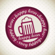 Happy hour — Vector de stock #14558881