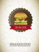 Burger label — Stock Vector