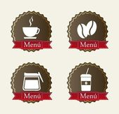 Coffee label — Stock Vector