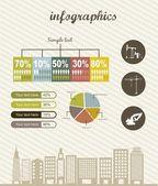 Infografica — Vettoriale Stock