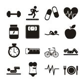 Fitness icons — Vettoriale Stock