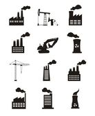 Industry icons — Vector de stock