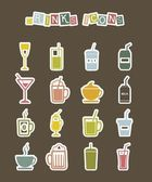 Drinks icons — Stockvector