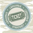 Ticket — Stockvectorbeeld