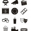 Cinema icons — Stock Vector #14733047