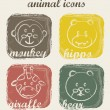 Vettoriale Stock : Animal icons