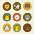Vector de stock : Animal icons
