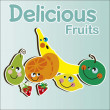 Kids Fruits — Stock Vector